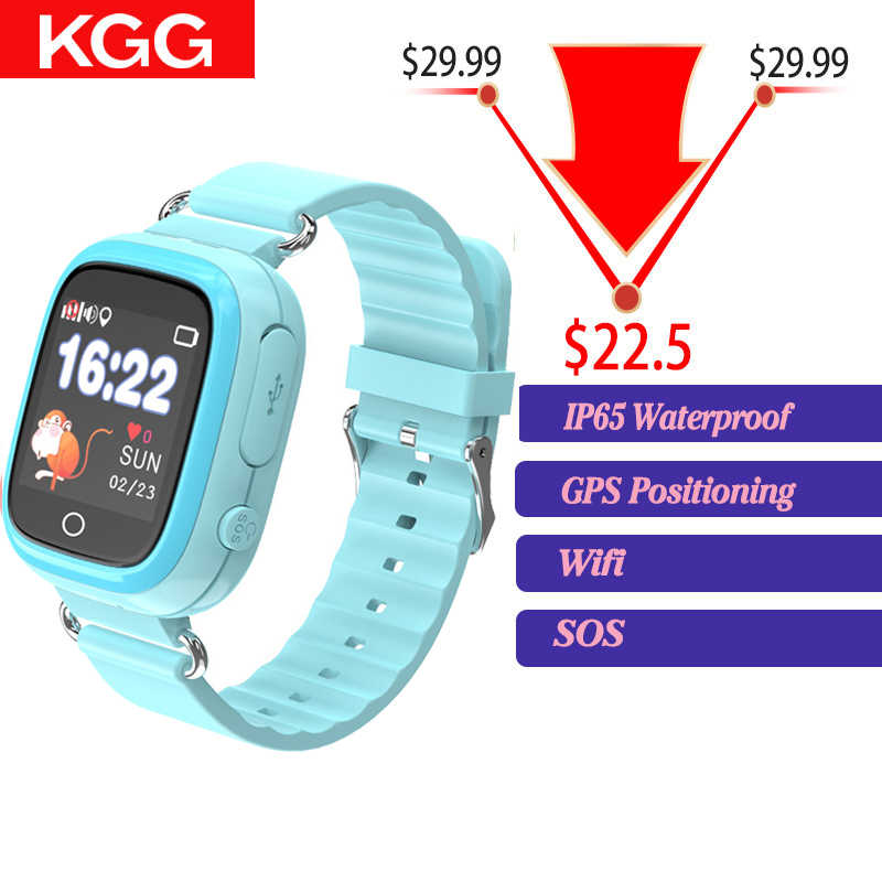 2019 Q90S Waterproof GPS Child Smart Watch Phone Position Children Watch 1.3 inch Color Touch Screen WIFI SOS Smart Baby Watch