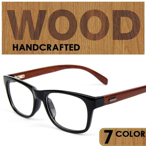 Wood eye glasses frame men women glasses wooden frames marcos de ...
