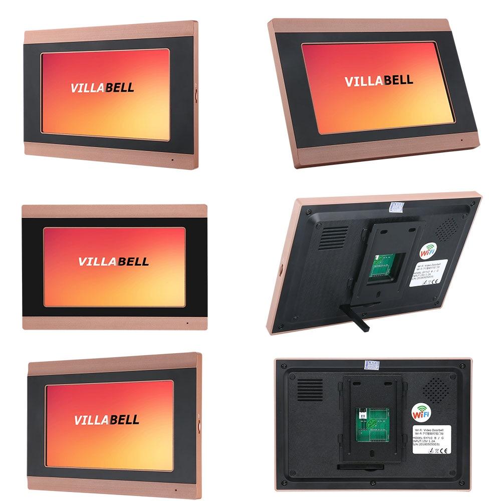 MAOTEWANG 7 inch Wifi Draadloze Video Deurbel Intercom met HD 1000TVL Bedrade Camera foto records - 6