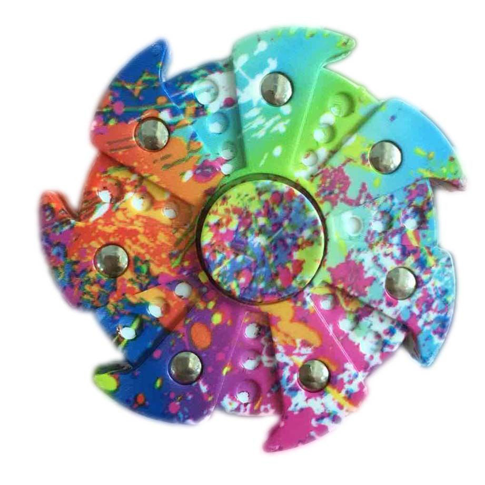 Colorful EDC Fidget Hand Spinner Creative Flower Focus ADHD Autism Finger Toy