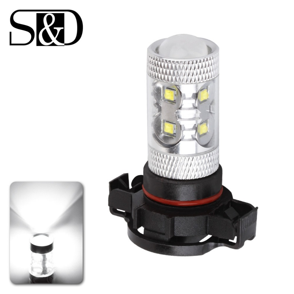 2PCS Cree Led Chip H16 12 SMD 1000Lm Driving Lamp White car Fog Head Bulb Lights source 5202 DRL D030 купить