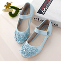 European Classic Summer Girls Sweet Princess Shoes With Flowers Children Party Show Sandals Fashion Kids Single Shoes Size 26-36
