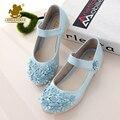 Europeo clásico muchachas del verano dulce princesa shoes con flores niños party mostrar sandalias fashion kids individual shoes tamaño 26-36
