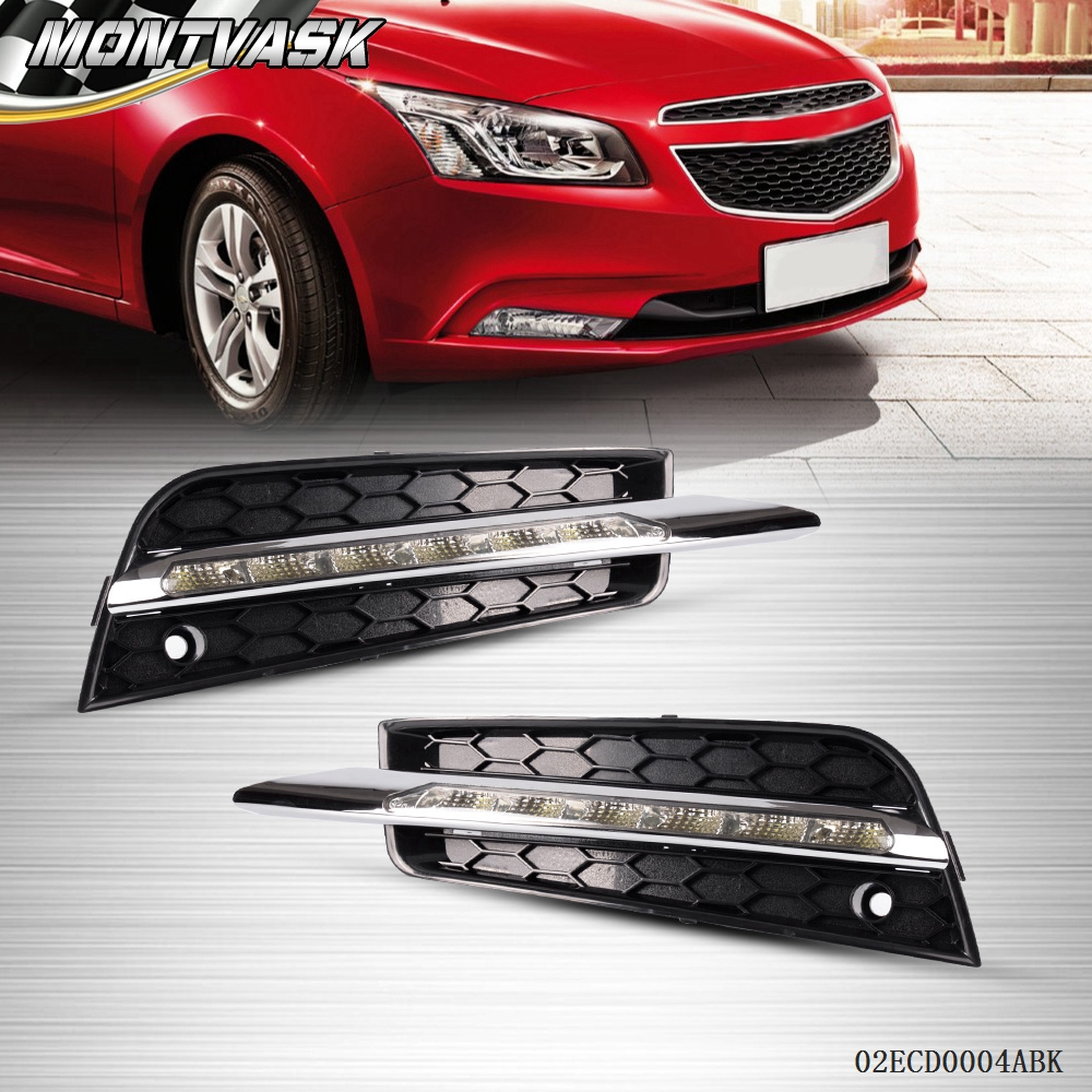1pair led drl daytime running fog light driving lamp for chevrolet cruze 11 12