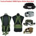 NOVA Airsoft Tactical 1000D Nylon Molle Cintura engrenagem Acolchoados Combate Cinto Cummerbunds Cinto Para Homens tatico militar Do Exército Batalha Cintel