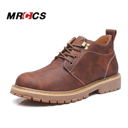 Mrccs vintage leather work boots for men thick rubber sole tooling shoes autumn single winter snow.jpg 250x250