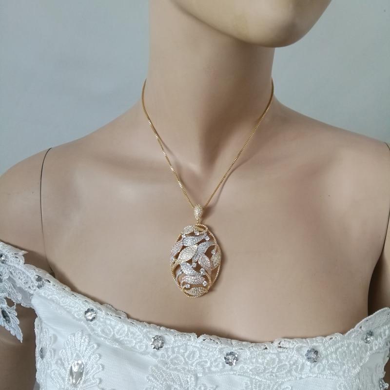все цены на 2018 new fashion luxury retro crystal Plant zircon golden necklace earring set,wedding bride banquet dress dinner jewelry set