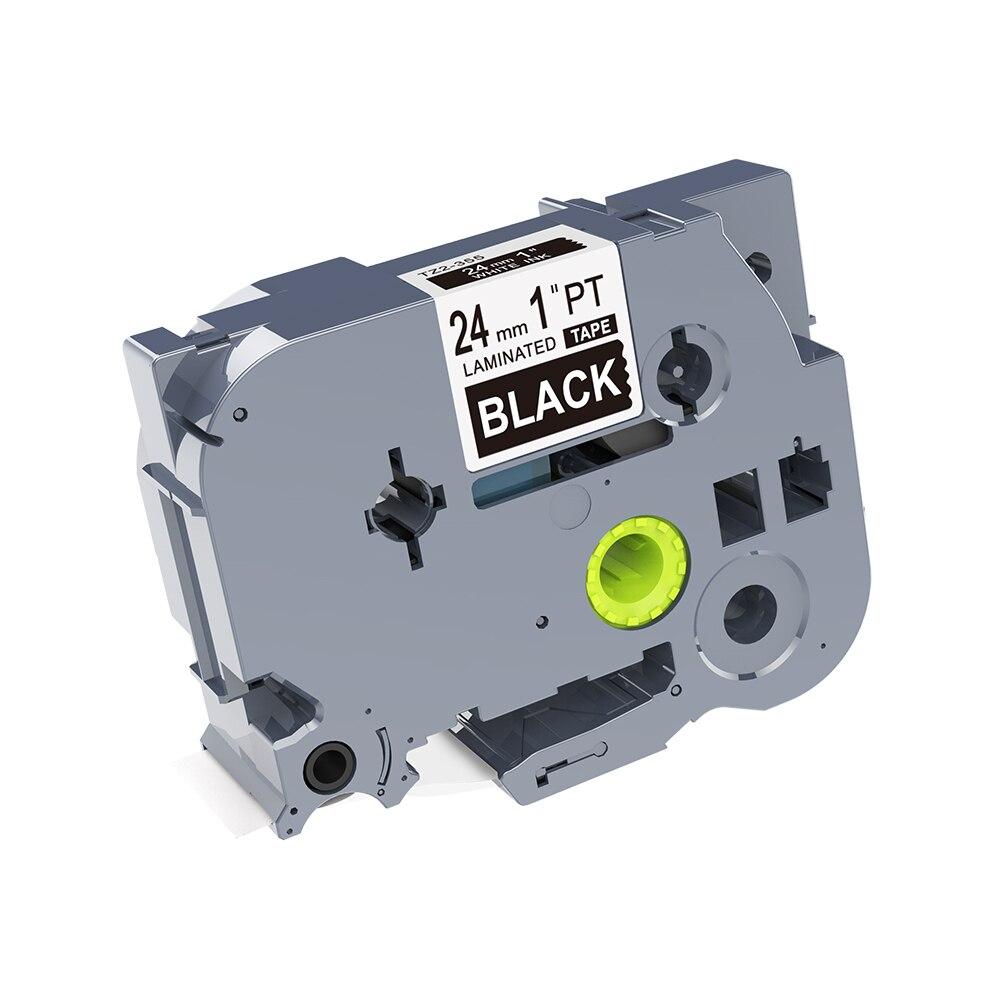 1PCS kingroad White on Black TZe-355 TZ-355 TZ2-355 24mm*8M label tape compatible for PT330 PT350 PT520 P-touch label printers1PCS kingroad White on Black TZe-355 TZ-355 TZ2-355 24mm*8M label tape compatible for PT330 PT350 PT520 P-touch label printers