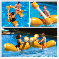 4 Pcs/Set Joust Pool Float Tube Raft Inflatable Pool Toys Water Sports Games For Adult Children Kickboard Boia Piscina