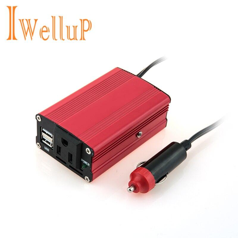 Voiture 200W onduleur 12v 220v convertisseur cc 12V à ca 220V 110V Portable Auto modifié onde sinusoïdale USB chargeur 12 220