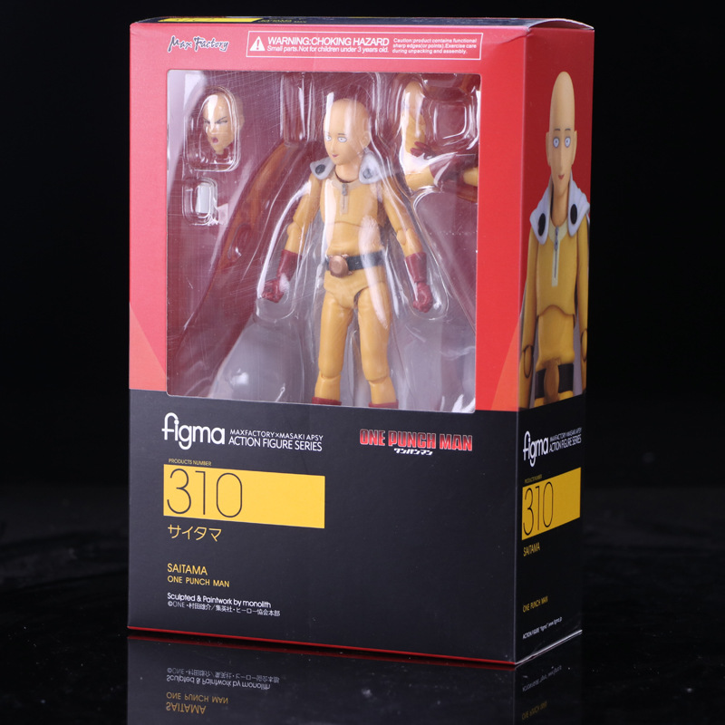 New hot sale anime figure toy Figma 310 Saitama one punch man 14CM gift for children free shipping anime one punch man saitama resin figure collectible model toy brinquedos 24 5cm