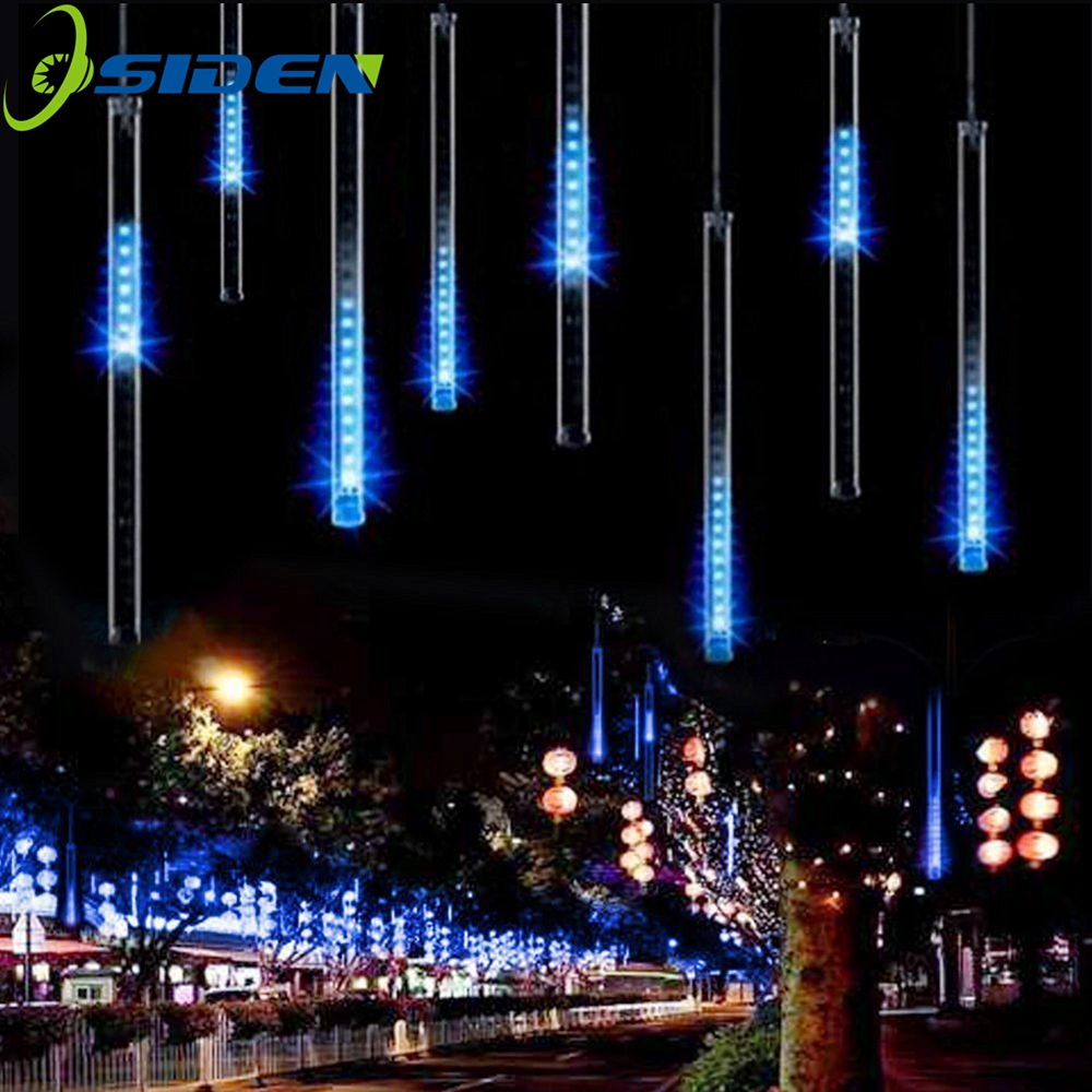 LED Meteor Shower Rain Lights HuiHeng 50cm 8 Tube Shower Meteor Rain Light Tube for Wedding Party Christmas Decoration Lights