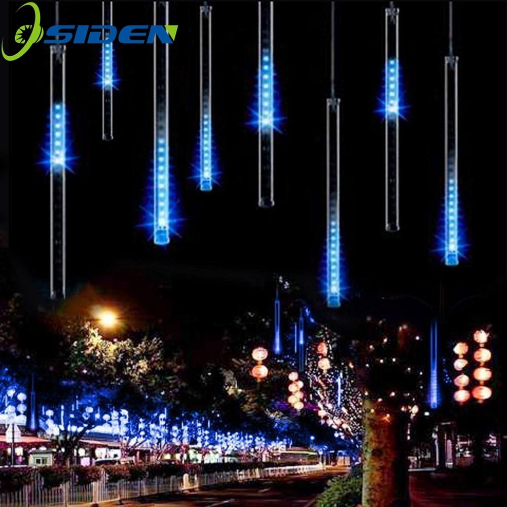 LED Meteor Shower Rain Lights HuiHeng 50cm 8 Tube Shower Meteor Rain Light Tube For Wedding Party Christmas Decoration Lights