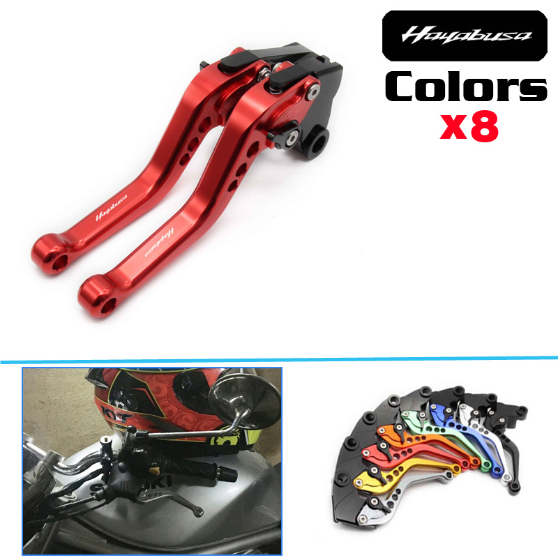 Hot sell Short Adjuster Brake Clutch Levers For Suzuki HAYABUSA/GSXR1300 GSX 650F 1250 F/SA 1400 <font><b>GSF</b></font> <font><b>650</b></font> 1200 1250 image