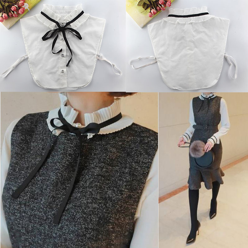 Shirt Fake Collar Detachable Vintage Lady Shirts False Collars High Neck Blouse Top Sweaters Women Clothes Accessories GDD99