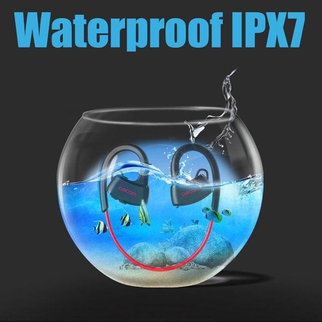 79bfc03072f DACOM P10 Bluetooth Headset IPX7 Waterproof Ear Hook Swimming Earphone With  Mic