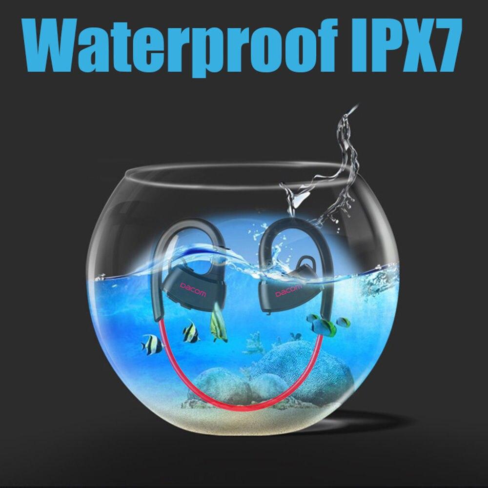 DACOM P10 Bluetooth casque IPX7 étanche oreille crochet natation écouteur avec micro