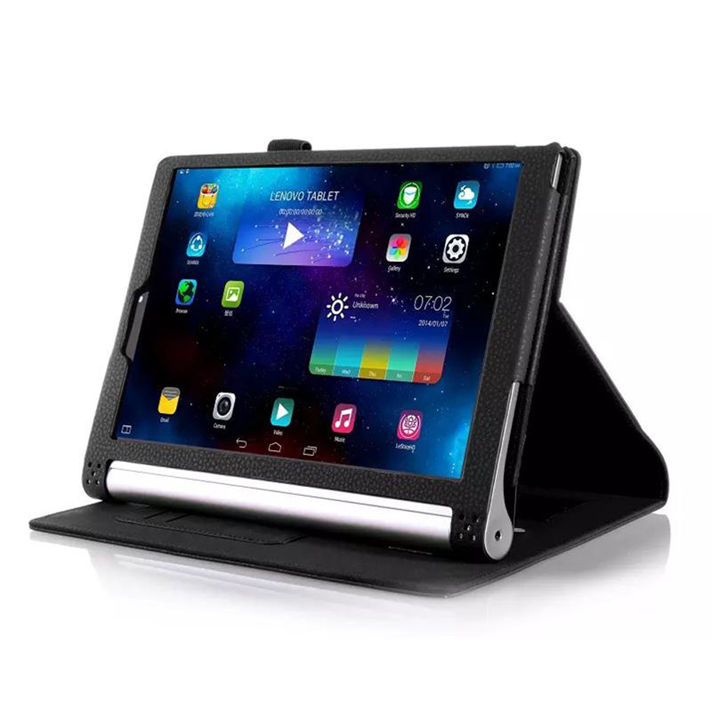 For Yoga Tablet 2 1050f case Luxury PU leather cover for lenovo yoga tablet 2 10 1050f 1050 cover case with stand holder ultra thin slim stand litchi grain pu leather skin case with keyboard station cover for lenovo ideapad miix 320 10 1 tablet pc