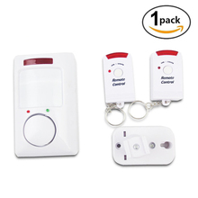 NEW Portable IR Wireless Motion Sensor Detector Double remote control Home doors Security Burglar Alarm System Easy To use