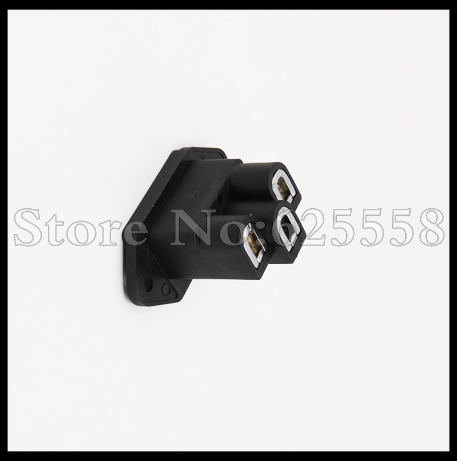2pcs Hifi Audio FI06(R) Brass rhodium plated IEC Inlet AC socket
