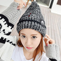 2016 New Fashion Woman's Warm Woolen Winter Hats Knitted Plus velvet Thickening Casual Skullies Ladies Beanies Bonnet Female Cap