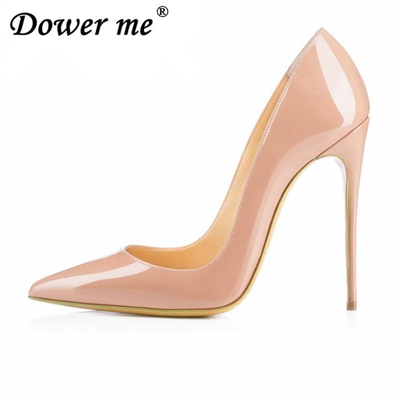 2018 High Heels Pumps Nude High Heels 12 Cm Frauen Schuhe High Heels