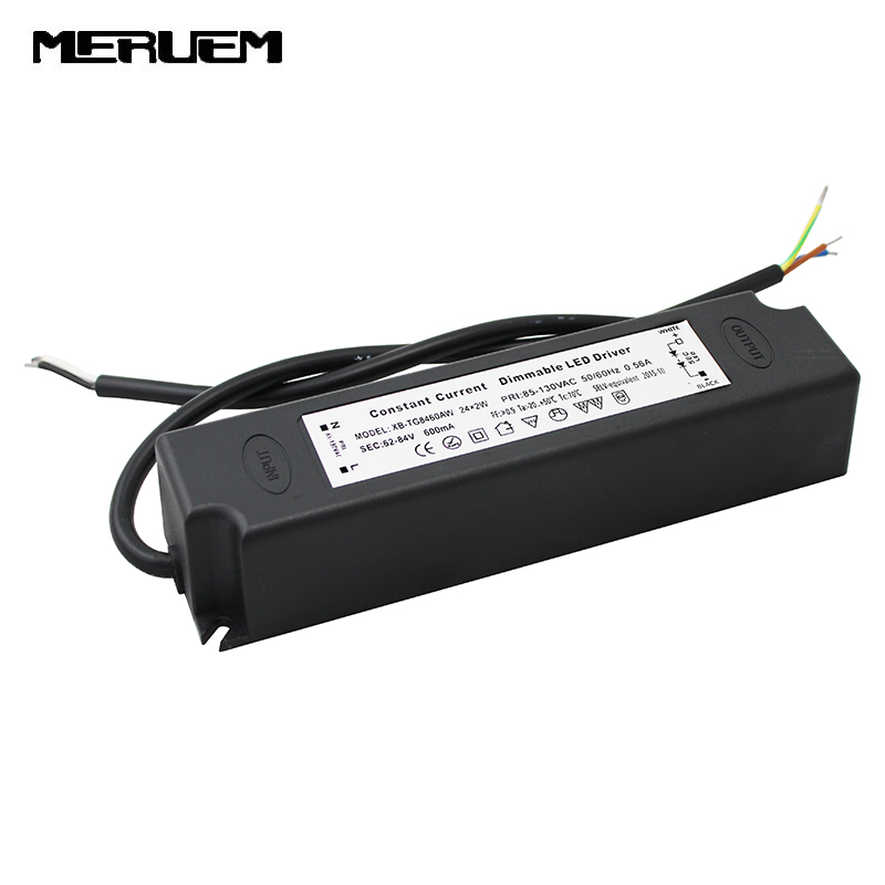 Dimmable LED Driver dimming LED power supply 48W led lighting transformer for downlight driver downlight panel