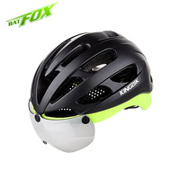 KINGBIKE High Quality Integrally Molded Cycling Helmet Ultralight Helmets With Lens Mens Skating Bicycle Bike Safe