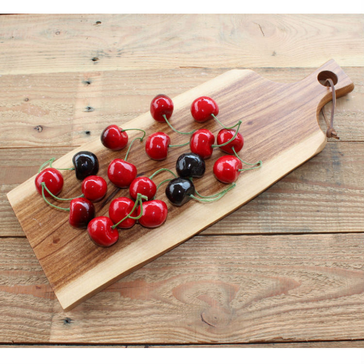 10pcs Acacia Wooden Chopping Board Party Serving Tray Dinner Plate for Cake Bread Pizza  ...