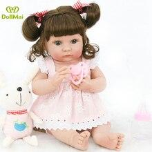 """Muñeca recién nacida de vinilo de silicona de 14 """"para niñas boneca bebes reborn realista l. o l muñeca sorpresas regalo para niño"""