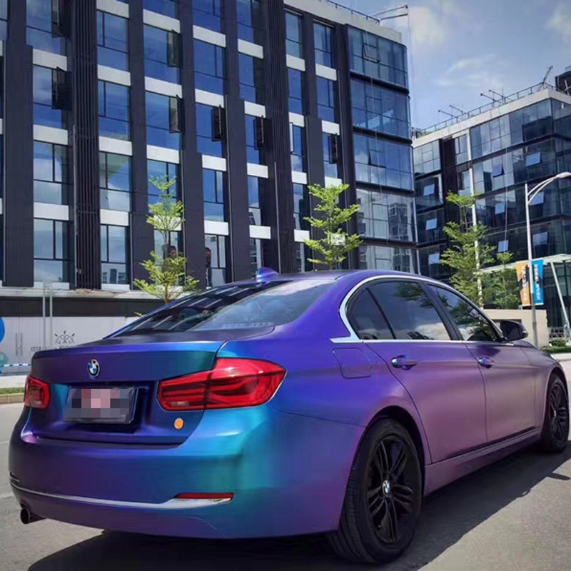 ORINO 1 52x20m Matte Magic Diamond Chameleon Purple Blue Wrap Vinyl Film Car Chameleon Wrap Sticker