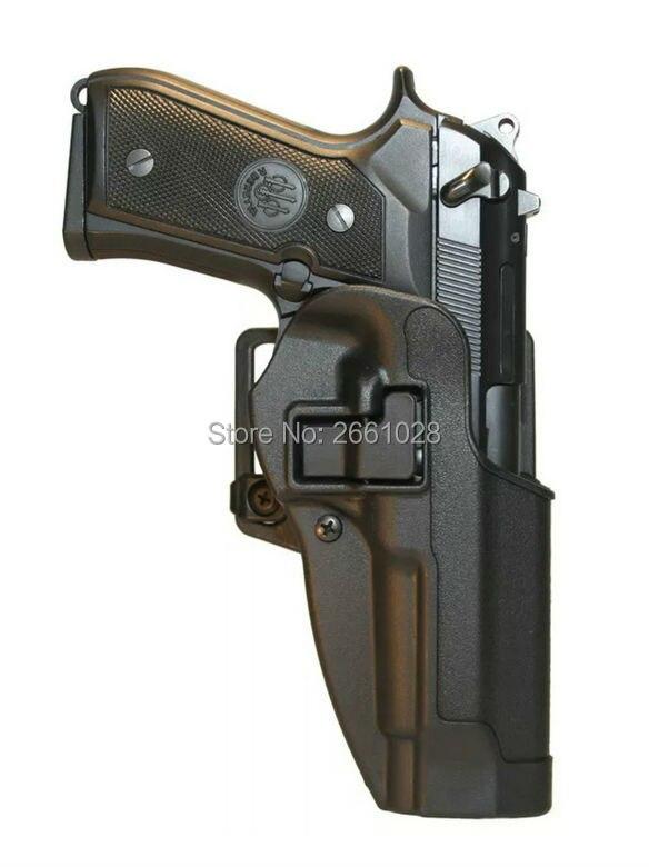 Цена за Военные Quick Release Кобуры Пистолет Тактический Правая Рука Paddle Ремень кобура Подходит для M9 92
