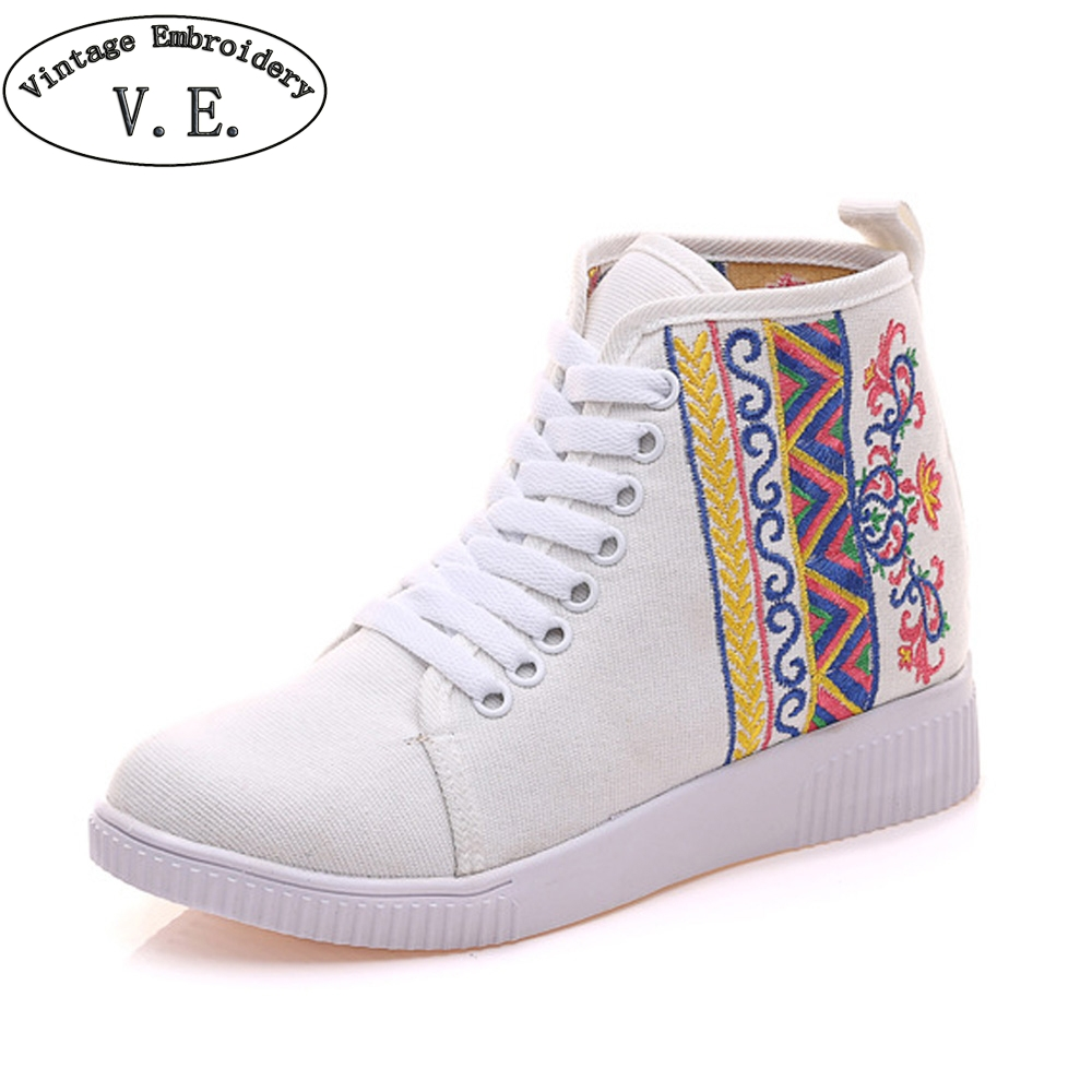 Vintage Women Shoes Embroidery Flats Summer Chinese Soft Tourism Travel Walking Dance Casual Lace Up White Shoes Woman traditional chinese style shoes embroidery dance women fashion old beijing mary jane shoes woman red flats single casual plus 41