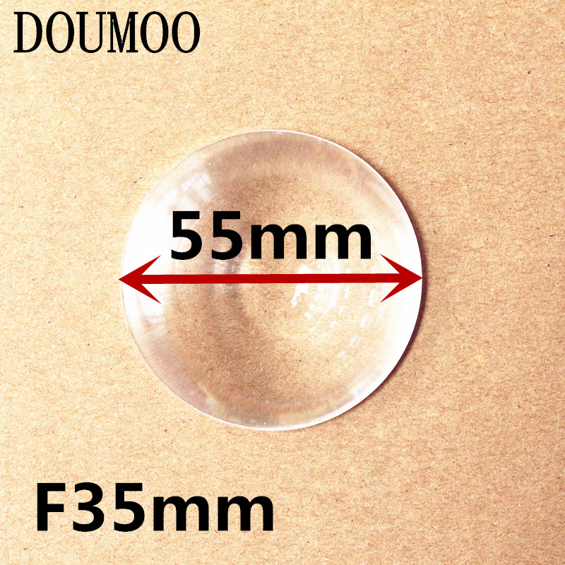 4 pcs /lot Diameter 55 <font><b>mm</b></font> Focal length <font><b>35</b></font> <font><b>mm</b></font> acrylic optical fresnel <font><b>lens</b></font> free shipping image