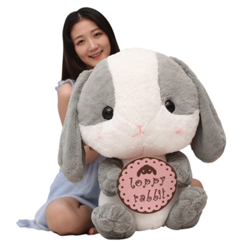 Fancytrader Lovely Plush Soft Cartoon Rabbit Toy Stuffed Giant Animal Bunny Nice Lover Gift 75cm fancytrader 150cm lovely plush soft cartoon rabbit toy stuffed giant 59 animal bunny nice lover gift