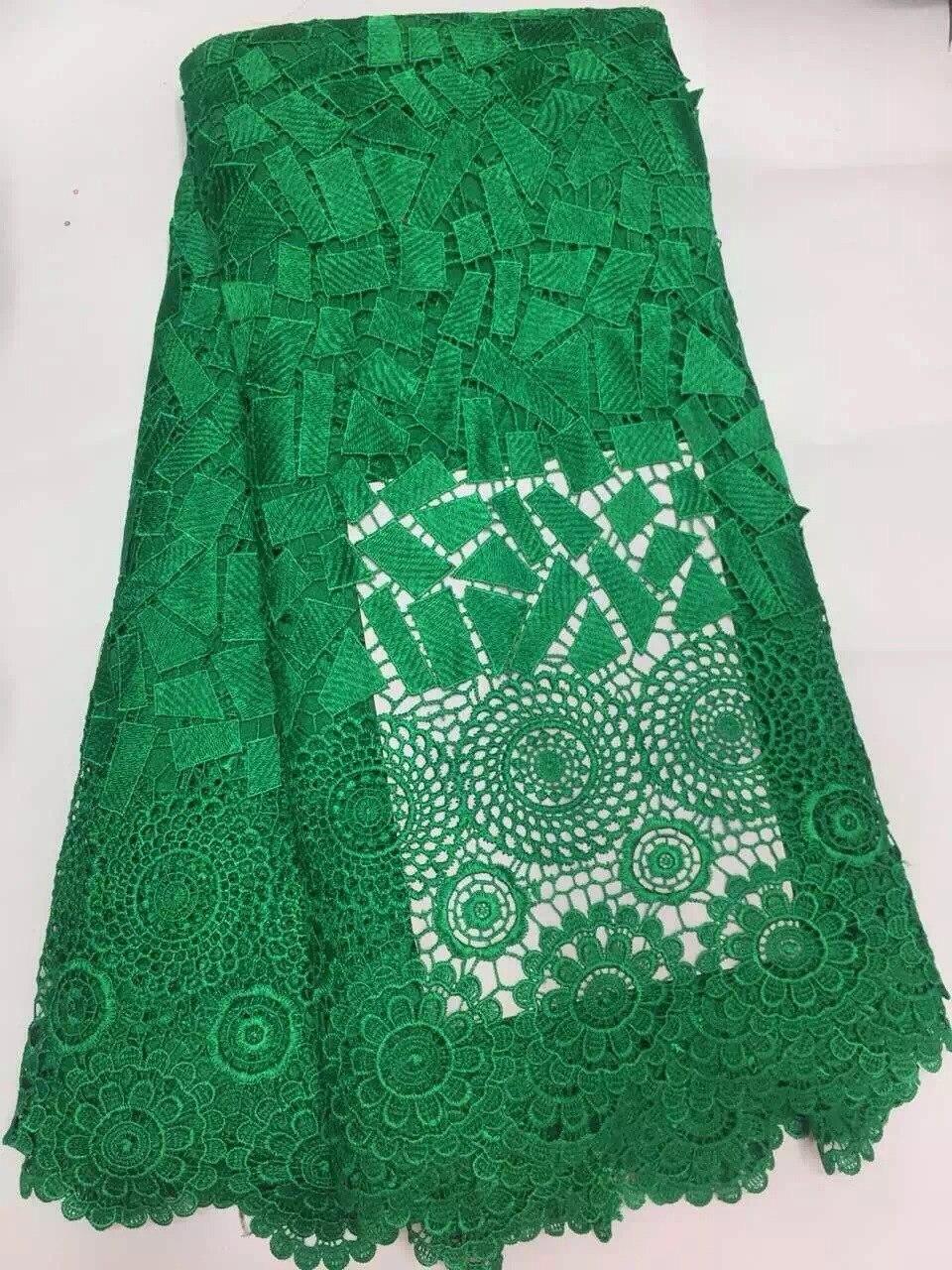도매 및 소매 독특한 광장과 동그라미 녹색 아프리카 코드 레이스 guipure 패브릭 파티 드레스와 결합! 5 yards/lot-에서레이스부터 홈 & 가든 의  그룹 1