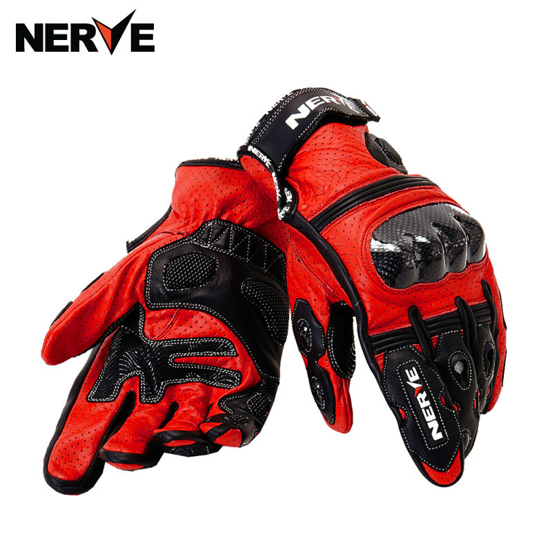 NERVE summer motorcycle riding gloves male leather wrestling carbon fiber locomotive protective gloves mesh breathable gloves dg home кушетка chaise longue lc4 dg f sf363