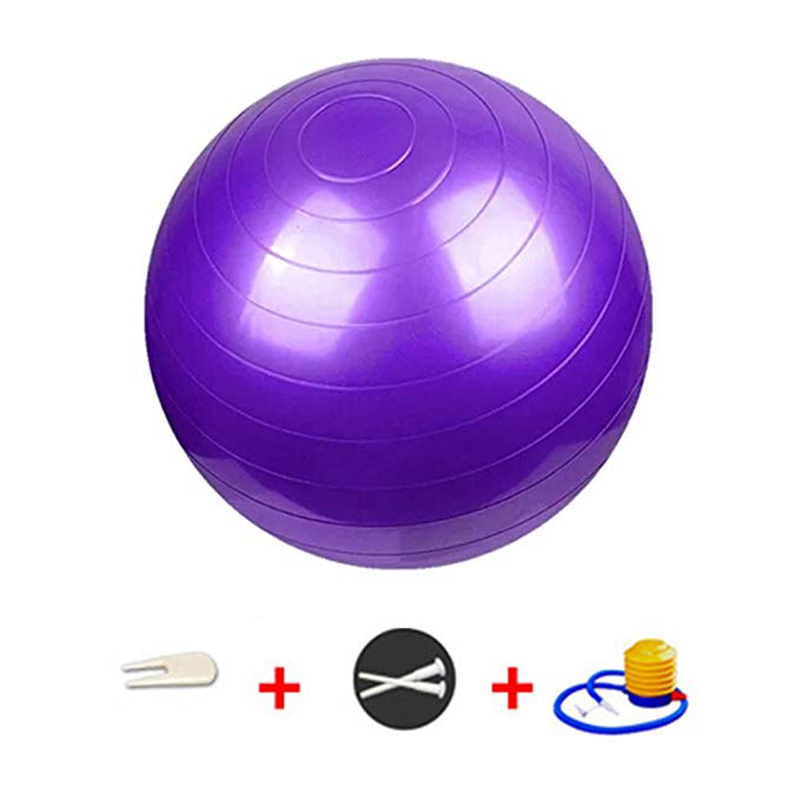 Exercise Ball with Resistance Bands Quick Pump Fitness Ball Yoga Ball Chairs for Office Home Anti