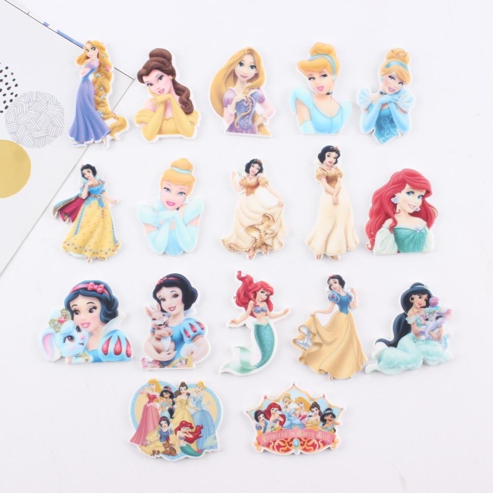 10pcs/lot Kawaii Planar Resin Princess Cabochons Resin Flatback Resin Crafts Accessories