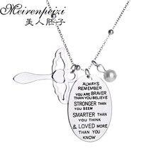 «Всегда помните, что вы бравер, то вы верите» имитация жемчуга красивый ангел-хранитель подарок, ожерелье с подвеской ювелирные изделия