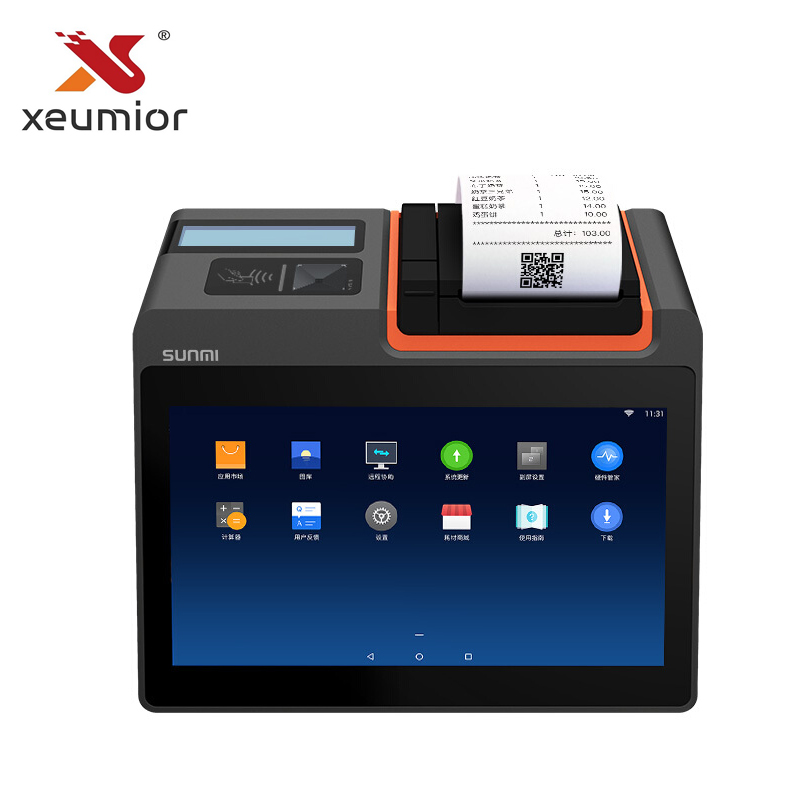 80mm Printer Register Cashier Desktop Sunmi Android Mini Smart-All-In-One T2 Built-In