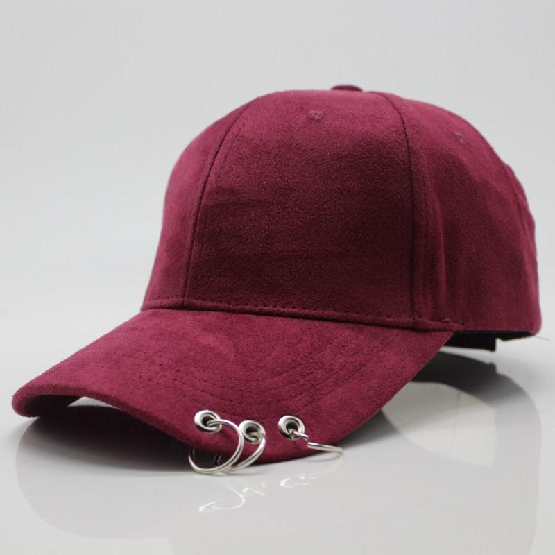 2017 Nuevo algodón Anillo Piercing Creativo Pareja gorra de béisbol Punk Gorras Hueso Masculino Femenino Basebol HipHop Base Bola Caps