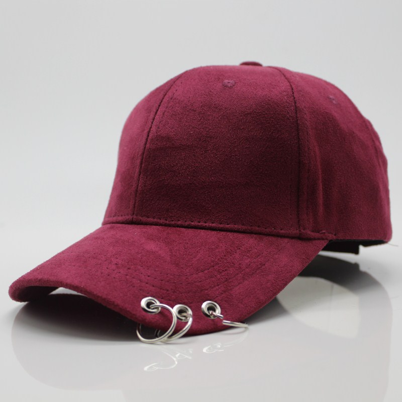 2017 New cotton Creative Piercing Ring Couple   baseball     cap   Punk Gorras Bone Masculino Feminino Basebol HipHop Base Ball   Caps