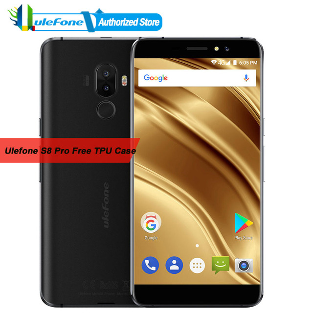 "Ulefone S8 Pro Mobilephone Android 7.0 2GB RAM 16GB ROM MT6737 Quad Core 13MP+5MP Dual Rear Cameras 5.3""HD Screen Cell Phone"