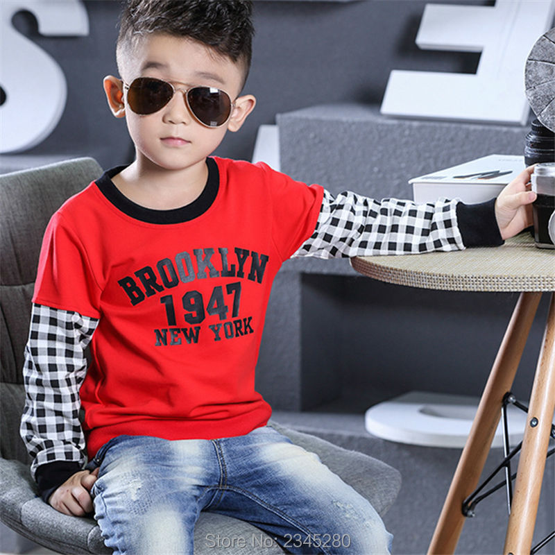 T-Shirt For Boy Sweater Ruffle Raglan Shirts Child Bobo Choses  The Boys Clothes Kids Tees Children Tops Teenage Boys Clothing 02