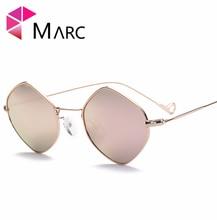 MARC UV400 WOMEN Eyewear Hight quality designer sunglasses Oculos Square fashion Blue Purple Gray Alloy Mirror