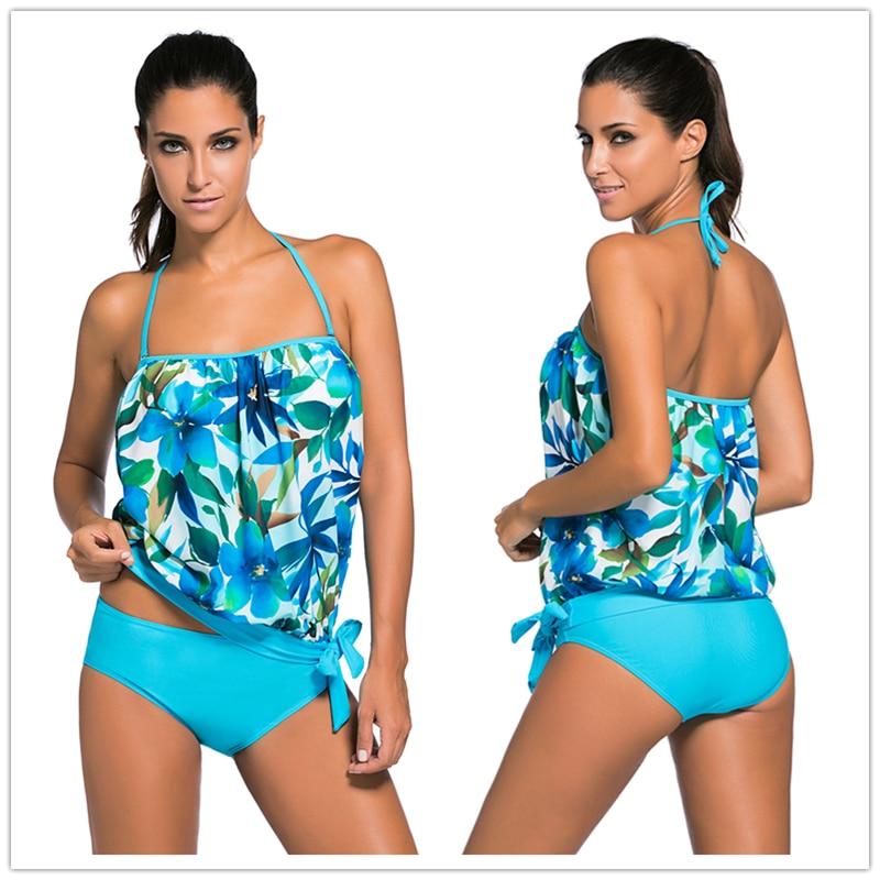 816eae411256 Removíveis com Pad Aleumdr 2018 Mulheres Sexy Moda Praia Alças Swim Wear Biquinis  Maiô Bandeau Tankini 2 Peças Define 41917
