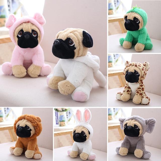 Hoodie Pug Dog Plush Toy Soft Stuffed Dolls 20cm In Stuffed Plush