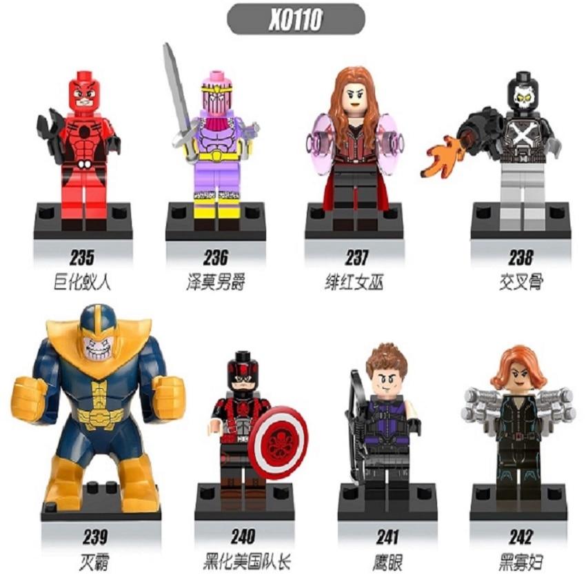 Single Sale Super Heroes Antman Hawkeye Baron Zemo Scarlet Witch Hydra Captain America Building Blocks Children Gift Toys X0110