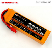 TCBWORTH RC LiPo battery 6S 22.2V 3300mAh 35C-70C For RC Airplane Helicopter Quadrotor Drone Car boat Truck Li-ion battery